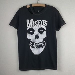 UO l Misfits Charcoal Gray Band T-shirt Punk Music